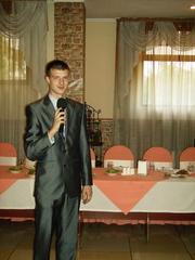 Тамада Владимир на свадьбу, юбилей, профи музыка, живой голос певцов