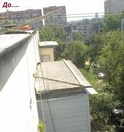 Ремонт балконного козырька в алматы